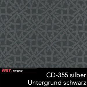 MST-Design, Wassertransferdruck, Folie CD-355 silber, Untergrund schwarz