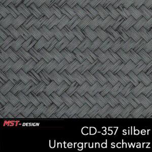 MST-Design, Wassertransferdruck, Folie CD-357 silber, Untergrund schwarz