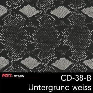 MST-Design, Wassertransferdruck, Folie CD-38-B, Untergrund weiß