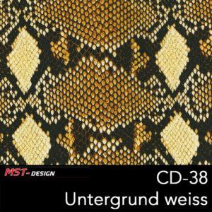 MST-Design, Wassertransferdruck, Folie CD-38, Untergrund weiß