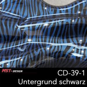 MST-Design, Wassertransferdruck, Folie CD-39-1, Untergrund schwarz
