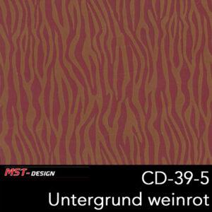 MST-Design, Wassertransferdruck, Folie CD-39-5, Untergrund weinrot