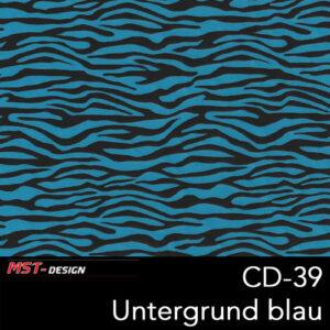 MST-Design, Wassertransferdruck, Folie CD-39, Untergrund blau