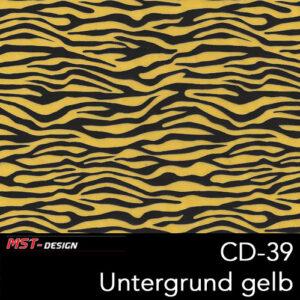 MST-Design, Wassertransferdruck, Folie CD-39, Untergrund gelb