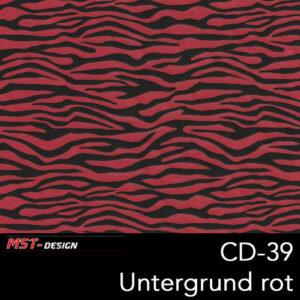 MST-Design, Wassertransferdruck, Folie CD-39, Untergrund rot