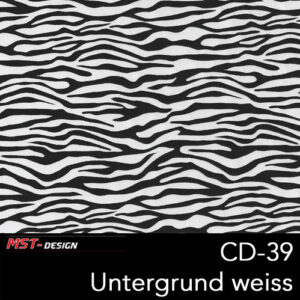 MST-Design, Wassertransferdruck, Folie CD-39, Untergrund weiß