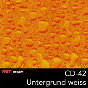 MST-Design, Wassertransferdruck, Folie CD-42, Untergrund weiß