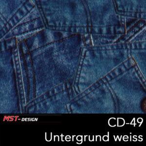 MST-Design, Wassertransferdruck, Folie CD-49, Untergrund weiß