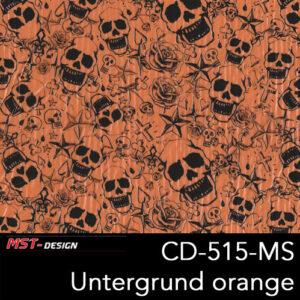 MST-Design, Wassertransferdruck, Folie CKP-515-MS, Untergrund orange