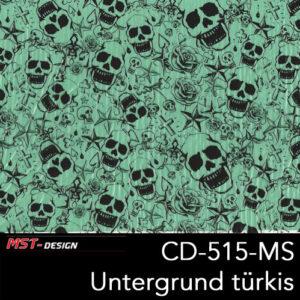 MST-Design, Wassertransferdruck, Folie CKP-515-MS, Untergrund türkis