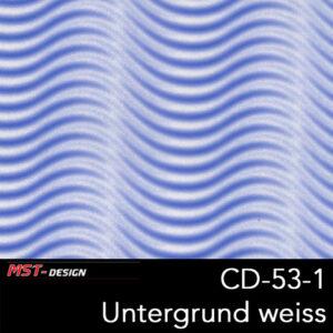 MST-Design, Wassertransferdruck, Folie CD-53-1, Untergrund weiß