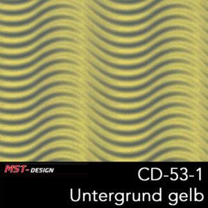 MST-Design, Wassertransferdruck, Folie CD-53-1, Untergrund gelb