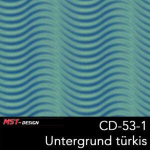 MST-Design, Wassertransferdruck, Folie CD-53-1, Untergrund türkis