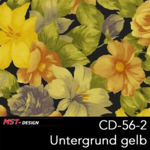 MST-Design, Wassertransferdruck, Folie CD-56-2, Blumen Style, Untergrund gelb