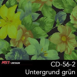 MST-Design, Wassertransferdruck, Folie CD-56-2, Blumen Style, Untergrund grün
