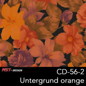 MST-Design, Wassertransferdruck, Folie CD-56-2, Blumen Style, Untergrund orange