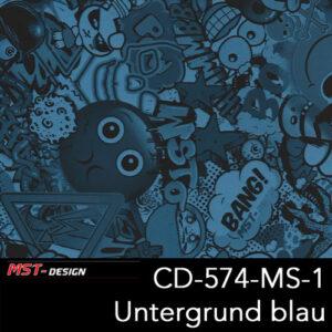 MST-Design, Wassertransferdruck, Folie CD-574-MS-1, Untergrund blau