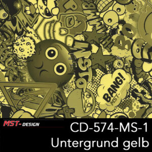 MST-Design, Wassertransferdruck, Folie CD-574-MS-1, Untergrund gelb