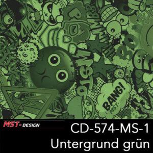 MST-Design, Wassertransferdruck, Folie CD-574-MS-1, Untergrund grün