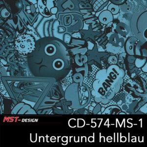 MST-Design, Wassertransferdruck, Folie CD-574-MS-1, Untergrund hellblau