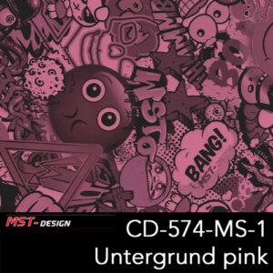 MST-Design, Wassertransferdruck, Folie CD-574-MS-1, Untergrund pink