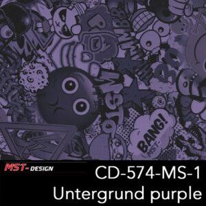 MST-Design, Wassertransferdruck, Folie CD-574-MS-1, Untergrund purple