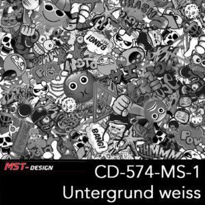 MST-Design, Wassertransferdruck, Folie CD-574-MS-1, Untergrund weiß