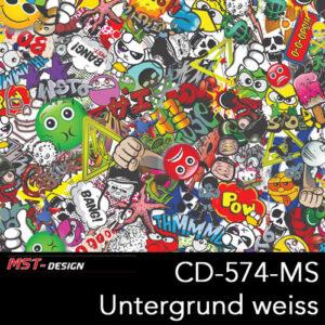 MST-Design, Wassertransferdruck, Folie CD-574-MS, Untergrund weiß