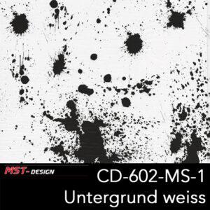 MST-Design, Wassertransferdruck, Folie CD-602-MS-1, Untergrund weiß