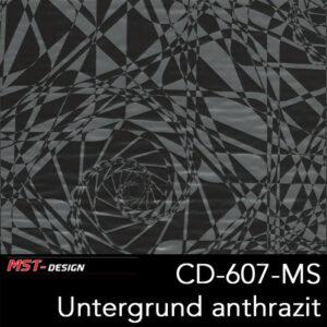 MST-Design, Wassertransferdruck, Folie CD-607-MS, Untergrund anthrazit