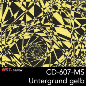 MST-Design, Wassertransferdruck, Folie CD-607-MS, Untergrund gelb