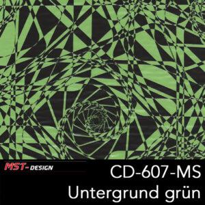 MST-Design, Wassertransferdruck, Folie CD-607-MS, Untergrund grün