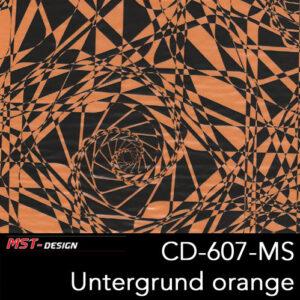 MST-Design, Wassertransferdruck, Folie CD-607-MS, Untergrund orange
