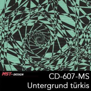 MST-Design, Wassertransferdruck, Folie CD-607-MS, Untergrund türkis