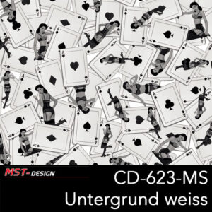 MST-Design, Wassertransferdruck, Folie CD-623-MS, Untergrund weiß