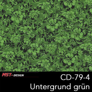 MST-Design, Wassertransferdruck, Folie CD-79-4, Blumen Style, Untergrund grün