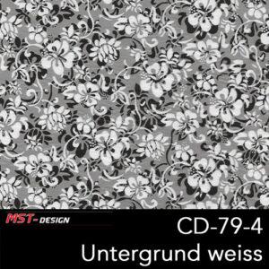 MST-Design, Wassertransferdruck, Folie CD-79-4, Blumen Style, Untergrund weiß