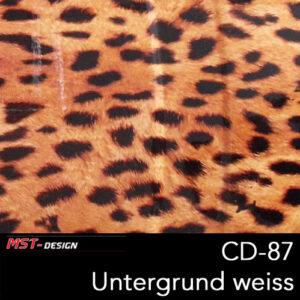 MST-Design, Wassertransferdruck, Folie CD-87, Untergrund weiß