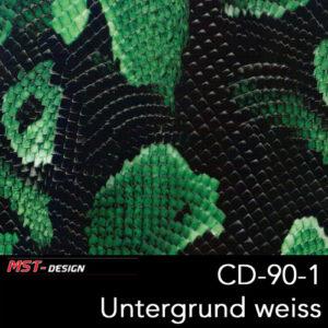 MST-Design, Wassertransferdruck, Folie CD-90-1, Untergrund weiß