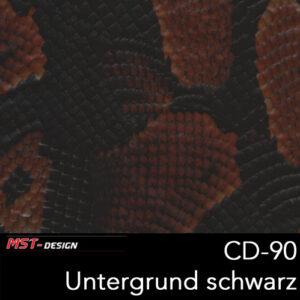 MST-Design, Wassertransferdruck, Folie CD-90, Untergrund schwarz