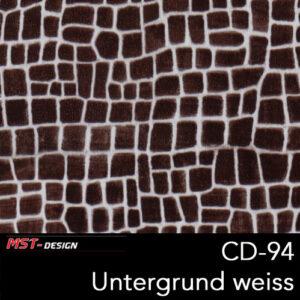 MST-Design, Wassertransferdruck, Folie CD-94, Untergrund weiß