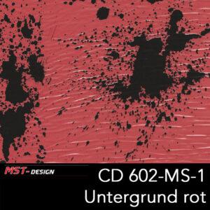 MST-Design, Wassertransferdruck, Folie CD-602-MS-1, Untergrund rot