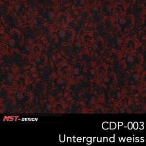 MST-Design, Wassertransferdruck, Folie CDP-003, Untergrund weiß