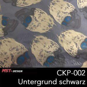 MST-Design, Wassertransferdruck, Folie CKP-002, Untergrund schwarz