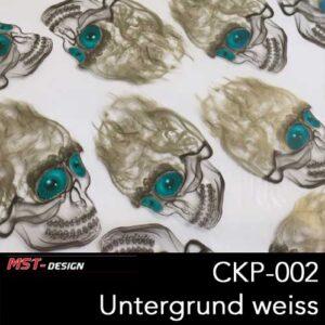 MST-Design, Wassertransferdruck, Folie CKP-002, Untergrund weiß