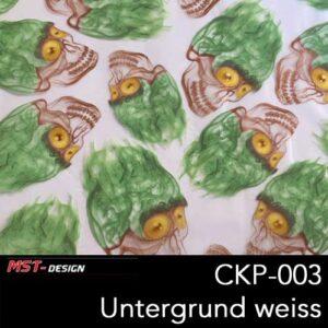MST-Design, Wassertransferdruck, Folie CKP-003, Untergrund weiß