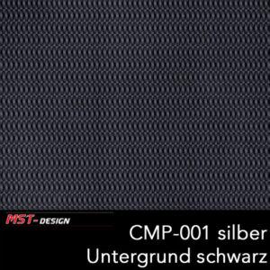 MST-Design, Wassertransferdruck, Folie CMP-001 silber, Untergrund schwarz