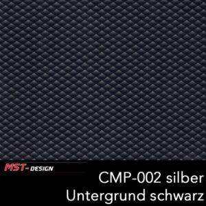 MST-Design, Wassertransferdruck, Folie CMP-002 silber, Untergrund schwarz