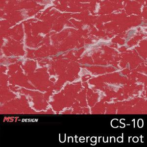 MST-Design, Wassertransferdruck, Folie CS-10, Untergrund rot