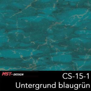 MST-Design, Wassertransferdruck, Folie CS-15-1, Untergrund blaugrün